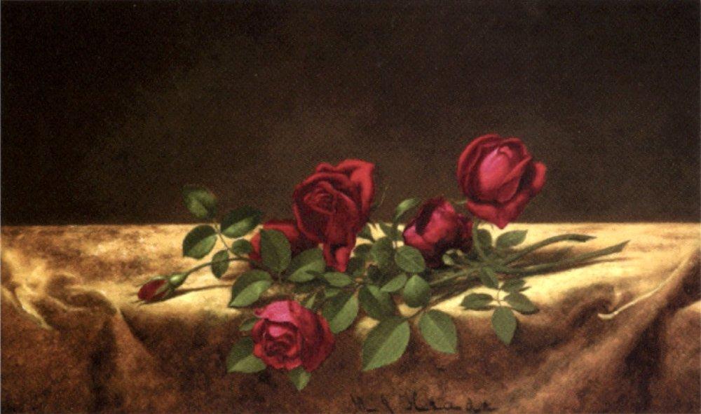 Martin_Johnson_Heade_-_'Roses_Lying_on_Gold_Velvet',_oil_on_canvas,_c._1883-1900,