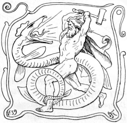 Thor_and_Jörmungandr_by_Frølich