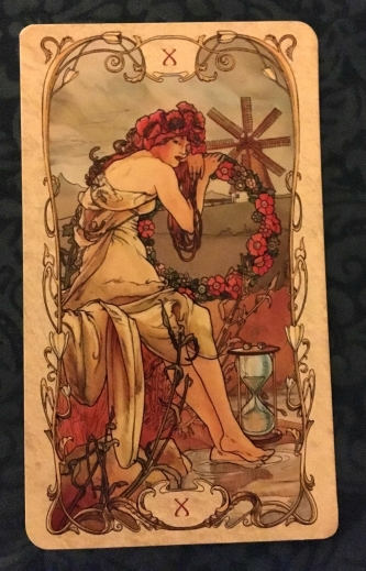 wheel of fortune tarot mucha