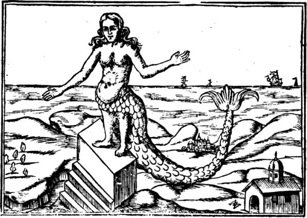 Derceto, from Oedipus Aegyptiacus by Athanasius Kircher 1652