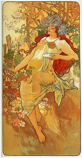 the-autumn-1896 Mucha